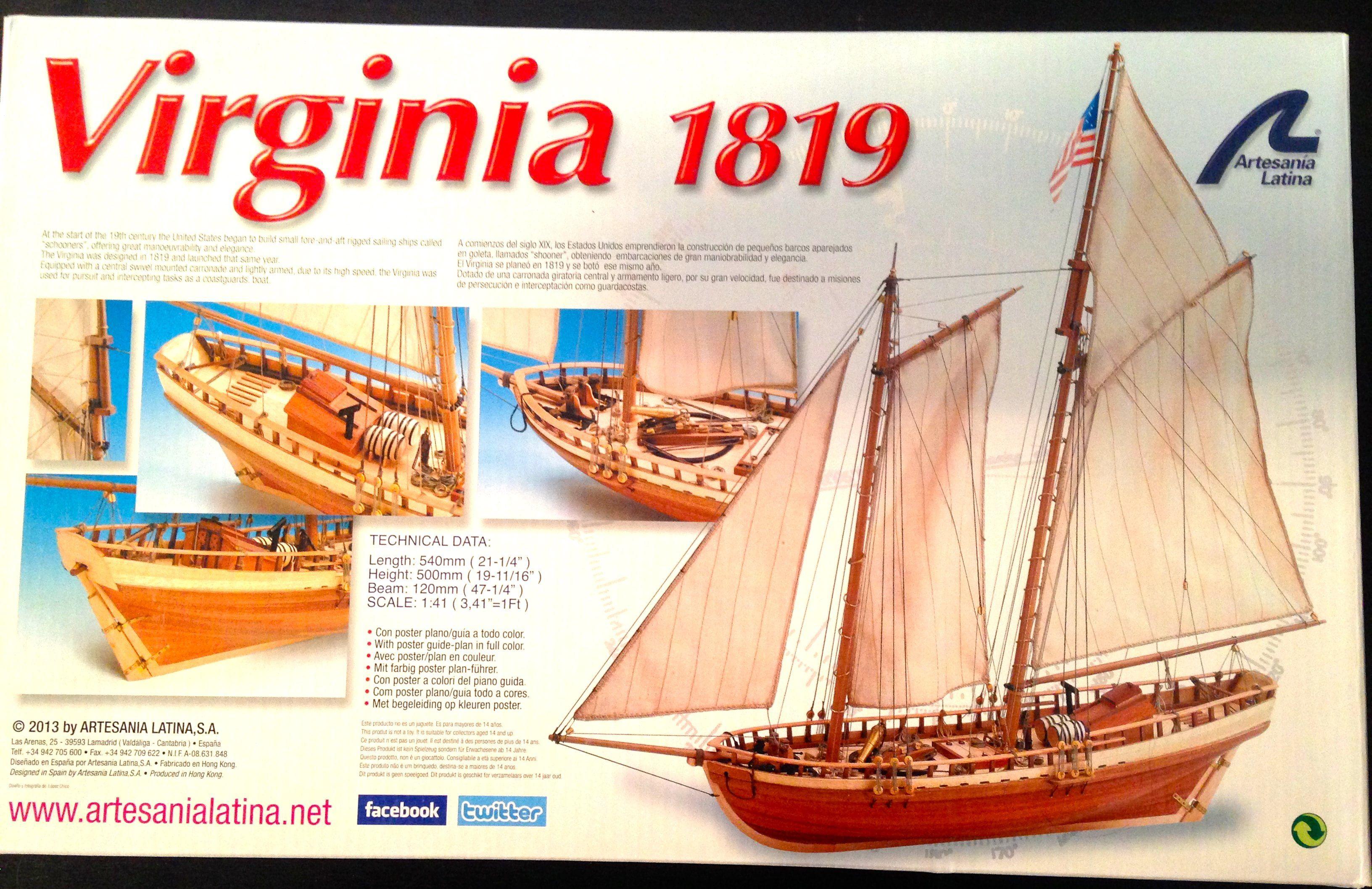 Virginia 1819 Model Ship Kit - Artesania Latina (22135)