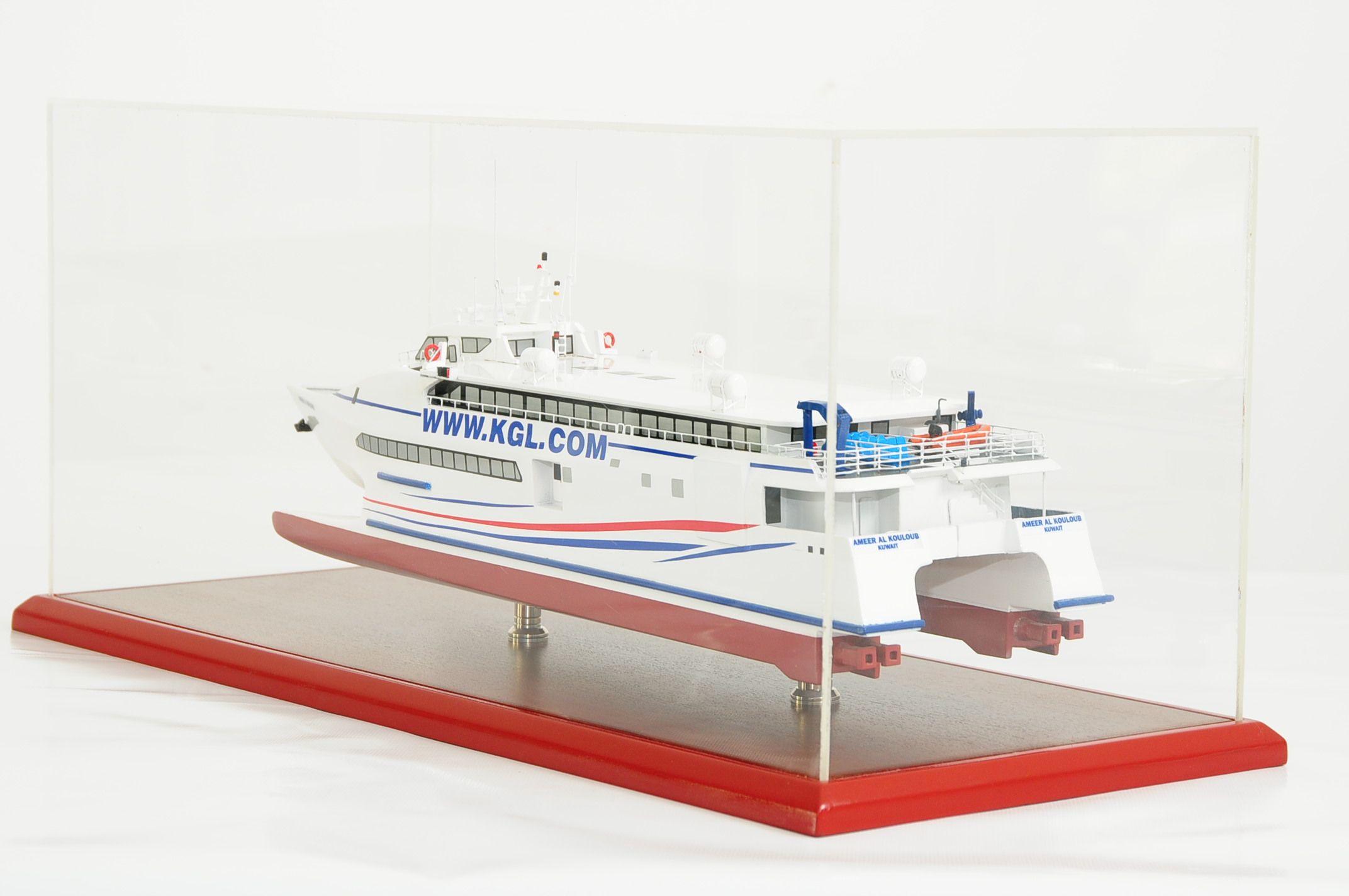 Kuwait Catamaran Model,handcrafted,ready made,classic yacht