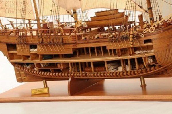 1232-7330-HMS-Endeavour-Open-Hull-Model-Ship-Premier-range