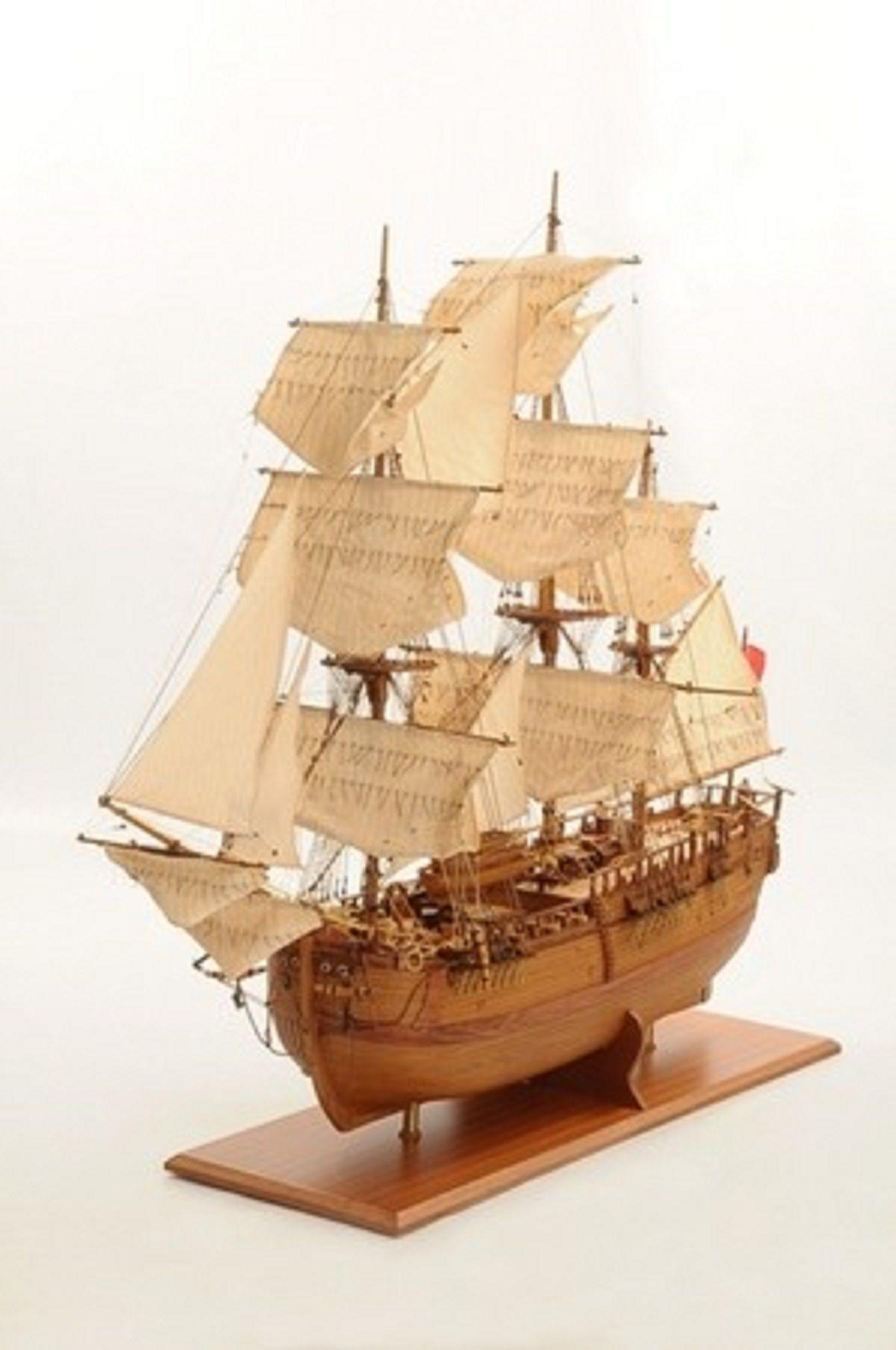 1232-7334-HMS-Endeavour-Open-Hull-Model-Ship-Premier-range
