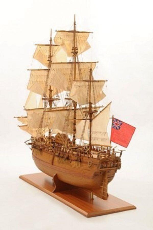 1232-7335-HMS-Endeavour-Open-Hull-Model-Ship-Premier-range
