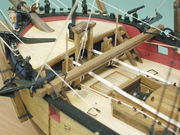 1727-9739-HM-Bomb-Vessel-Granado-Model-Boat-Kit