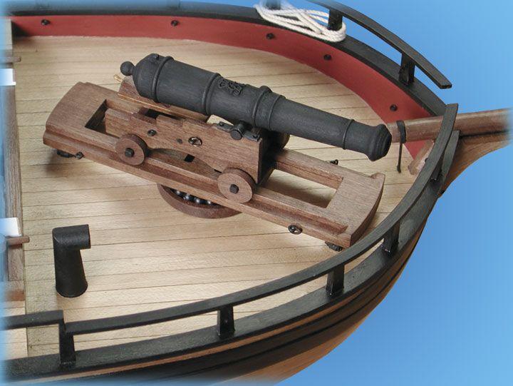 1728-9749-HM-Gunboat-William-Model-Ship-Kit