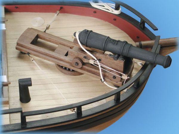 1728-9751-HM-Gunboat-William-Model-Ship-Kit