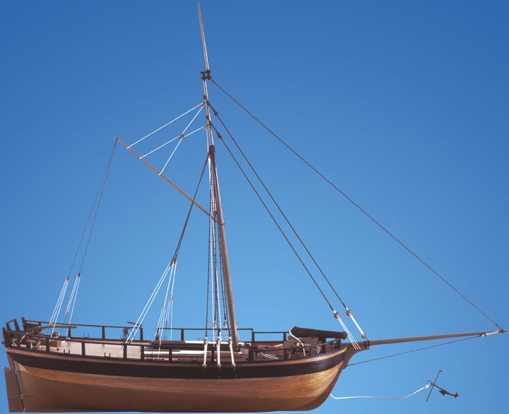 1728-9760-HM-Gunboat-William-Model-Ship-Kit