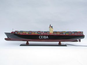 Custom Container Model Ship with Lights - GN