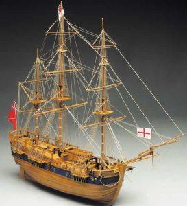 HM Bark Endeavour Model Ship Kit - Mantua Models (774)