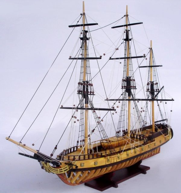 2097-12860-USS-Rattlesnake-Ship-Model-with-Frame-Hull