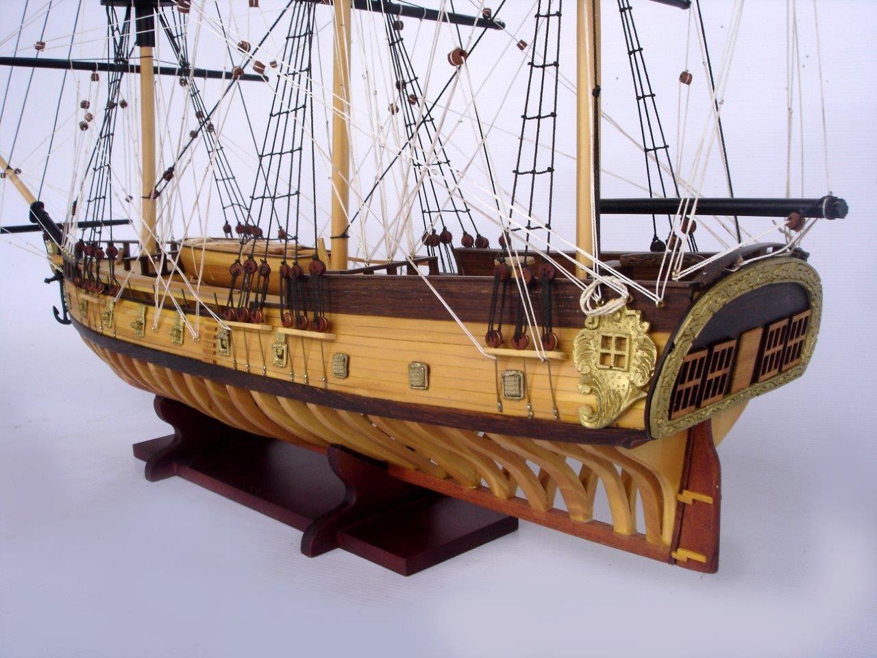 2097-12865-USS-Rattlesnake-Ship-Model-with-Frame-Hull