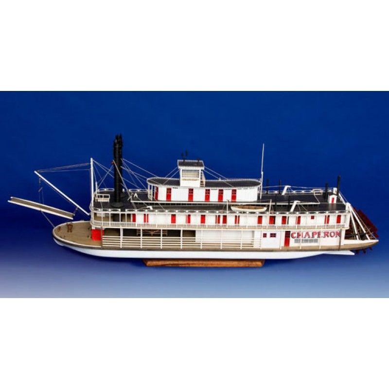 Chaperon Sternwheel Steam Packet (1884) Boat Kit - Model Shipways (MS2190)