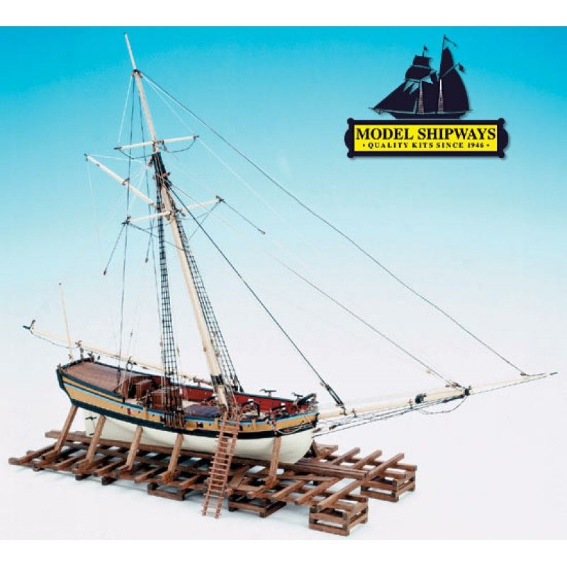 Armed Virginia Sloop (1768) Ship Kit - Model Shipways (MS2160)