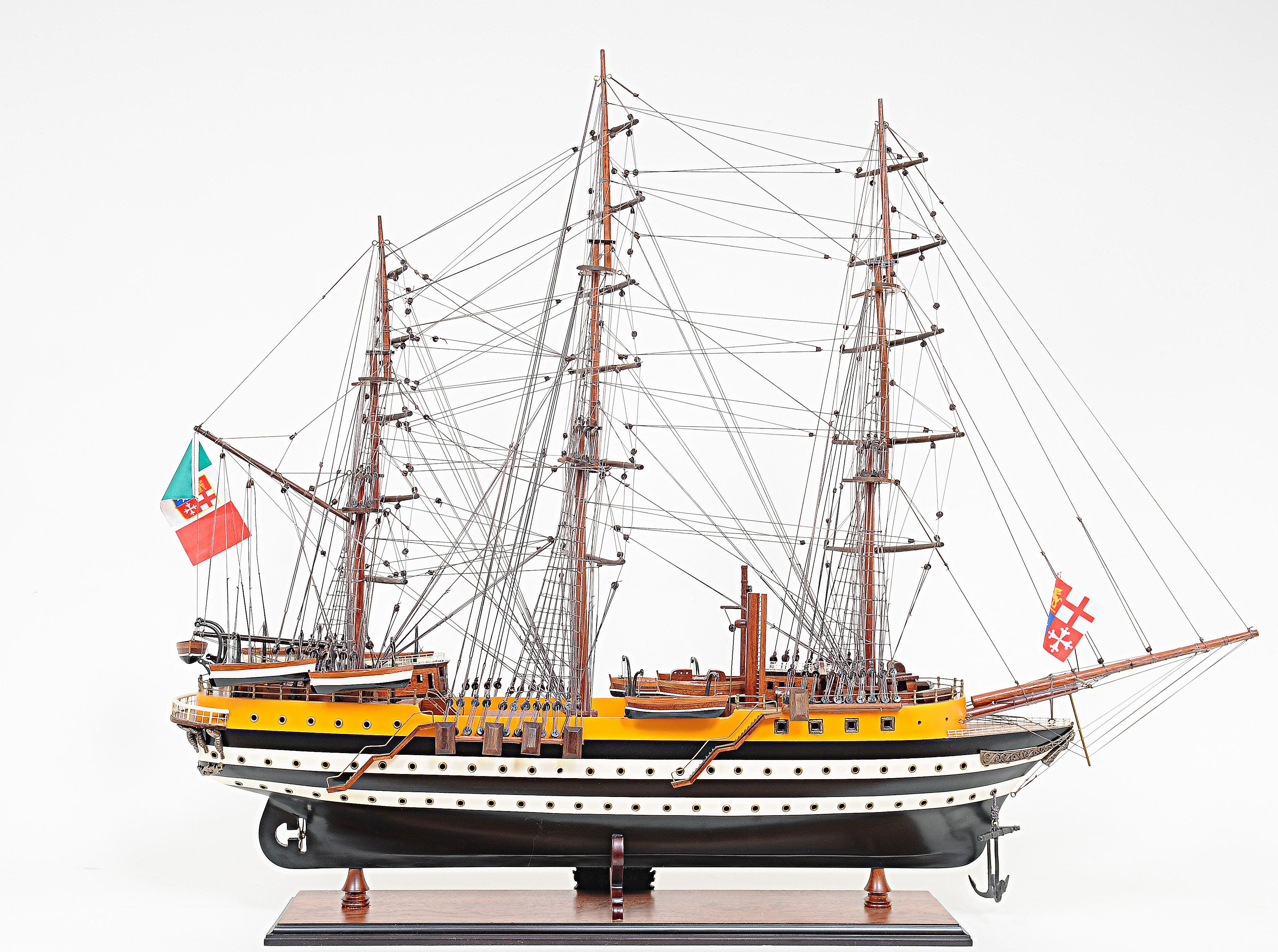2265-13020-Amerigo-Vespucci-Model-Boat