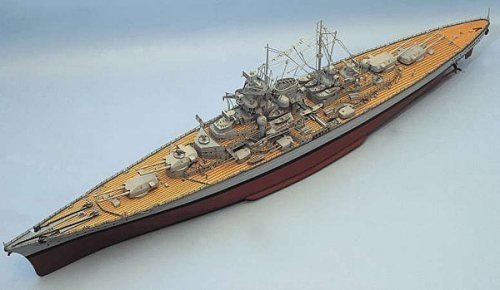 380-3430-Tirpitz-Model-Boat-Kit-Aeronaut-Including-fittings-AN361900