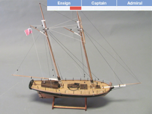 Revenue Cutter Wooden Model Ship Kit - BlueJacket (K1106A)