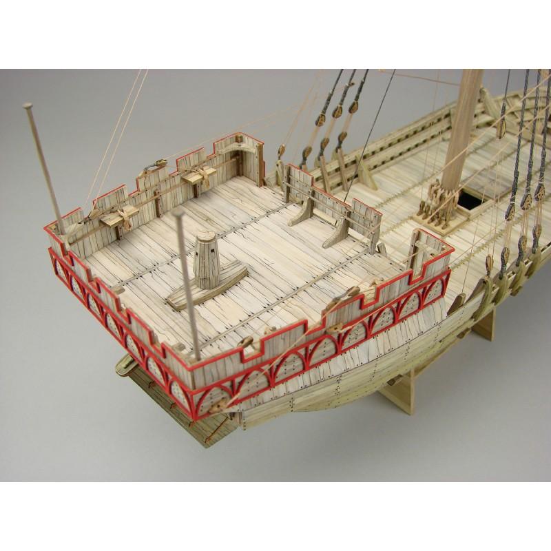 Hanse Kogge Bremen 1380 Model Boat Kit - Shipyard (ZL048)
